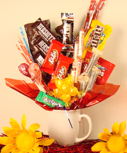 Coffee Cup Candy Flowers Delivered in Atlanta Georgia